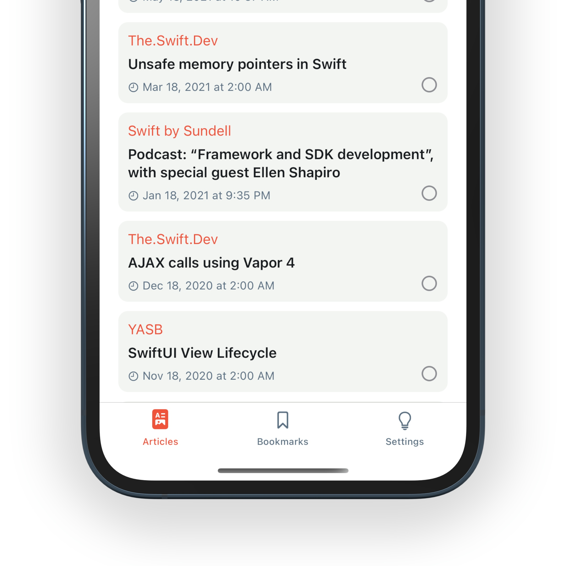 RSS Feed + iOS Design System Kit - 3